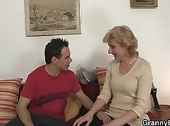 Blonde bombshell fucking her granny