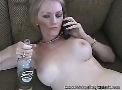 Chick fucks grandmother having sex in the kitchen