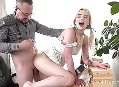 Blonde teacher fucked by her students