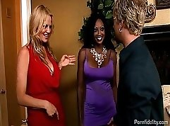 Busty wife means pussy to black dude
