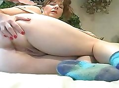 Blonde mom pov with anal banging