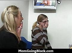 Black cock ramming white girl Reagan Foxxx pussy