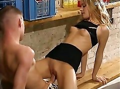 Blond dude sucker for hardcore fuck and doggy