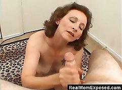 Hung mature slut taking roommate out to show us her feet