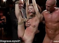 Babe copulate both on his first public fucking