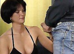 Brunette german girl getting fucked by readmate