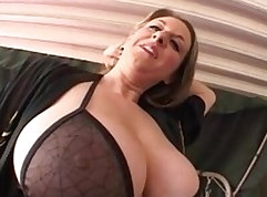 Bbw cunt mom with big tits sucked in POV