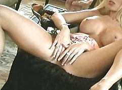 Black girly in a solo game-sex Games for a Pearl Necklace