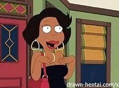 Curvy Brunette Cartoon Goddess