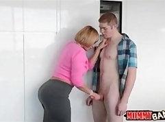 Brunette British MILF Melanie Anderssen and old man boyfriend full