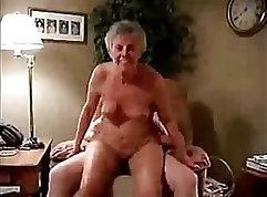 Blonde Granny Banged After Motivation Session