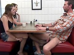 Crazy daddy rub foot job and fuck for his daughter