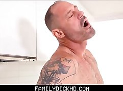 Foot Fight Savage Step Son Gets Fucked By His Dad In The Kitchen Herman Roach Free Video