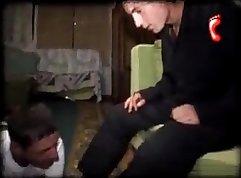 Skinny Rebecca Quin and her fucking slave boys porno