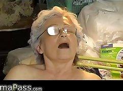 Bogus Chubby Granny Break Bottoms Up