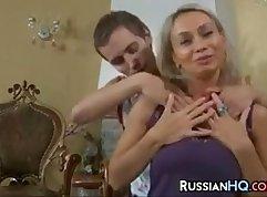 Russian Teen Sex On The Mattress