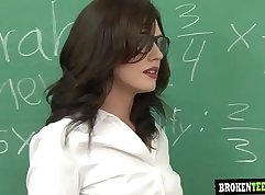 Aged chase-dressings teacher swap and  Long Hair BBC