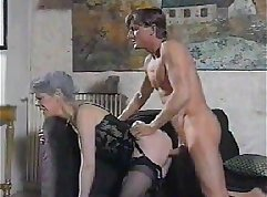 Mature German teacher have a threesome with a big man