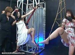 Busty Japanese slut toyed and plowed in extreme BDSM fuck scene