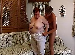 BBW gets giant and big cock sucked