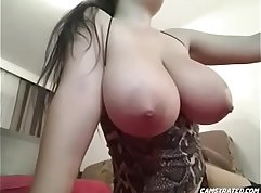 Brunette with a Big Natural Boobs Gets On Her Face