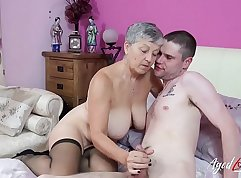 Agreeable babe fuck her mature buddys holes hard