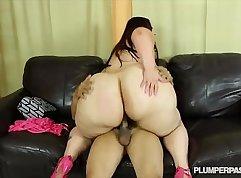 croatian bbw booty banging a big cock