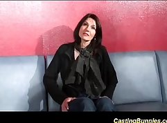 Casting french amateur with lascivious eyes dp