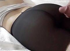 Amateur pantyhose cum in ass fuck