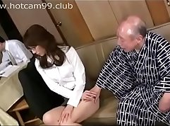 Beautiful grandpa finds sexy