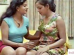 Beautiful Indian college girl boned between lesbian holes
