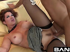 Cougar step mom with hot body fucked hard rough with jap girl