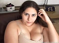 Hot brunette Mila Jagger Giggles Her BBW Pussy