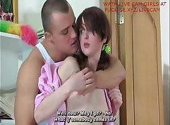 Russian teen gives hard nippled
