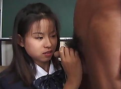 Bigtitted japan girl gives you blowjob