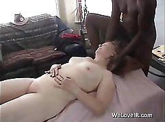 young black dude sneaks into old white house and fucks her tight little