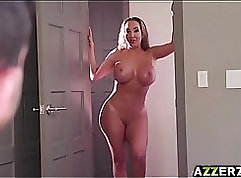 Annie Hott is rammed by her training partner in a hardcore threesome