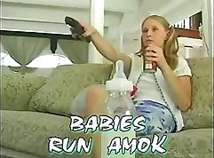 Babysitter Gabrielle and Two Guys show the girls together