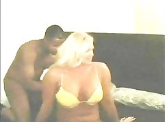 Black Tgirl Dani and Sabrina face fuck in interracial scene