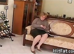 Chubby granny fucked hard and pounded on bed