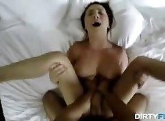 Hung Tit Teen Boss Rides Stranger In Office